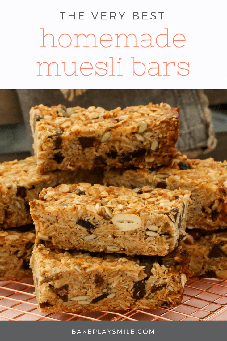 the very best homemade muesli bars bake play smile