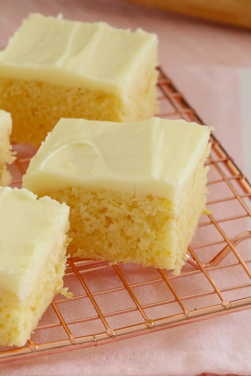 The easiest and most delicious baked Lemon Slice ever.... with the BEST creamy & tangy lemon frosting - this is such a quick, simple and classic recipe.