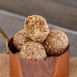 Deliciously Healthy Salted Caramel Balls made from medjool dates, rolled oats, desiccated coconut and a pinch of salt! YUM!