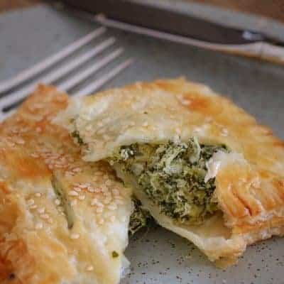 Feta, Spinach & Ricotta Rolls | Puff Pastry