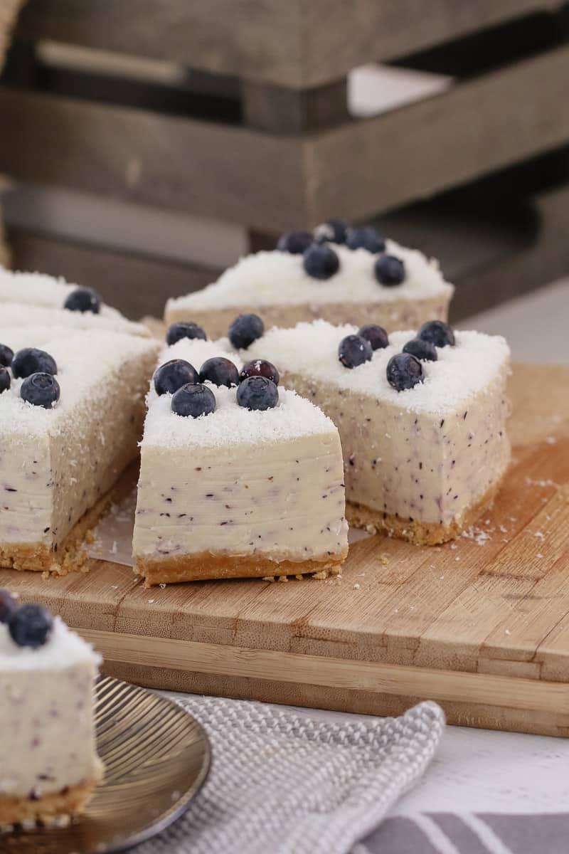 White Chocolate Blueberry Cheesecake No Bake Bake Play Smile