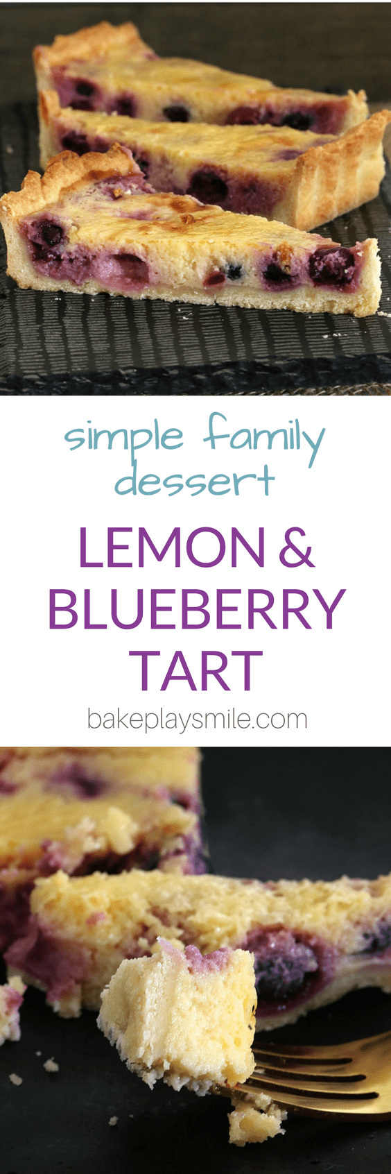 A classic Lemon Blueberry Tart! This is the most deliciously simple dessert... a total crowd-pleaser. Make your own pastry or use a store-boughtversion.