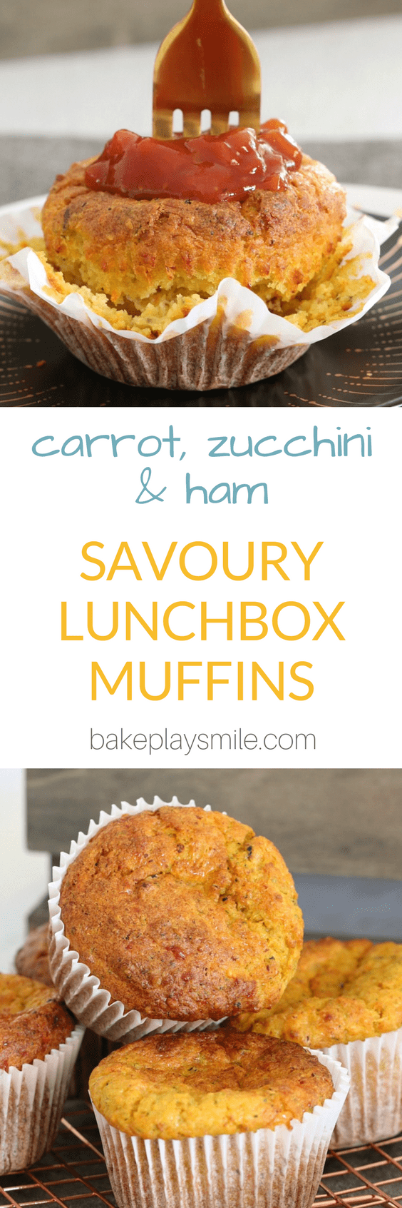 The most deliciously easy savoury muffins made with carrot, zucchini and ham. They're perfect for school lunch boxes... and are freezer-friendly too!