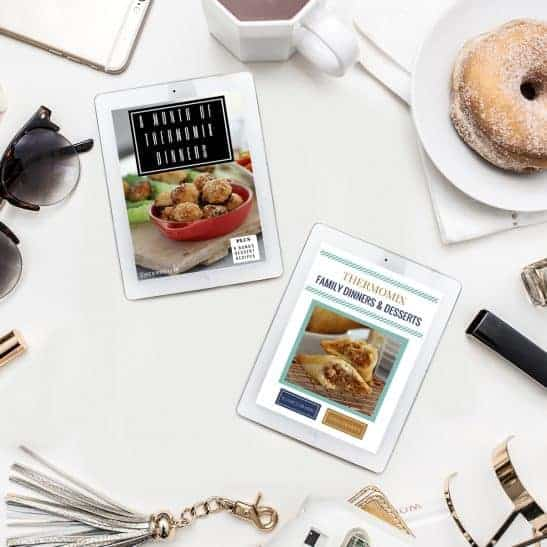Two Thermomix recipe books that are the Family Dinners Bundle