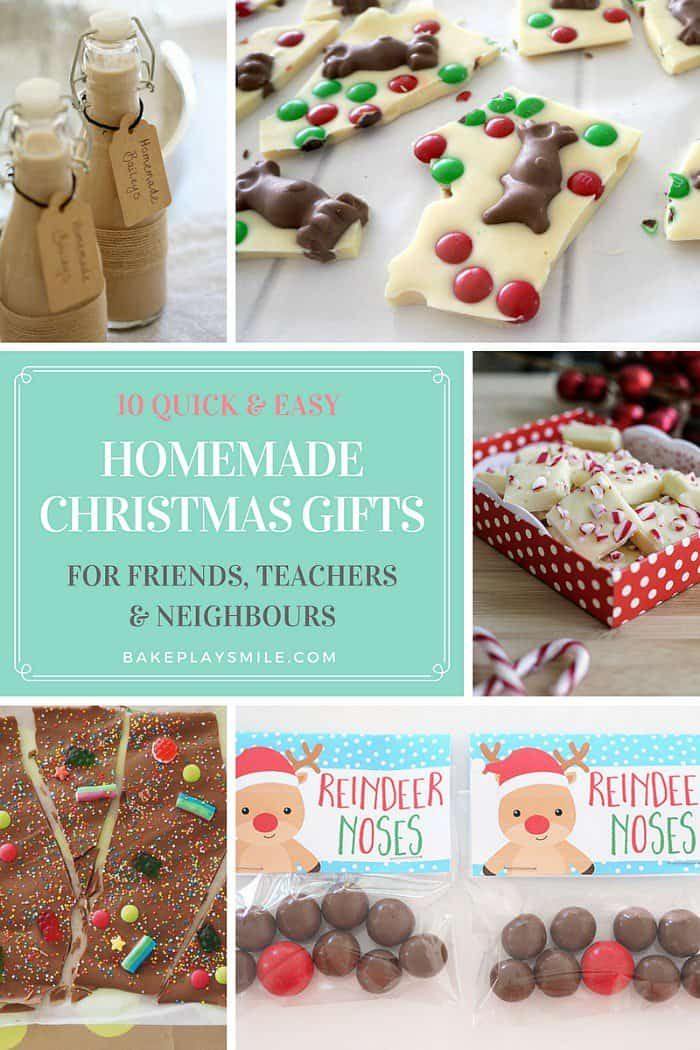 quick and easy homemade Christmas gifts