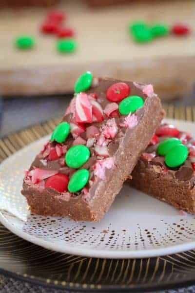 Peppermint Chocolate Christmas Slice | No Bake