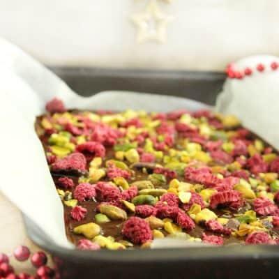 Pistachio & Raspberry Dark Chocolate Bark