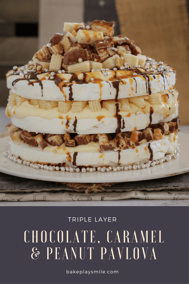 If you love Picnic chocolate bars… then say hello to the most delicious CHOCOLATE, CARAMEL & PEANUT PAVLOVA!!! A super easy 10 minute dessert that everyone will love!
