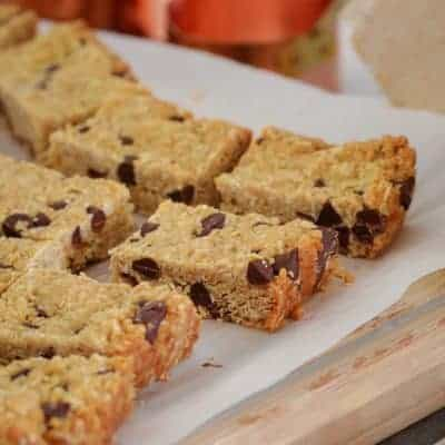 Chocolate Chip ANZAC Slice