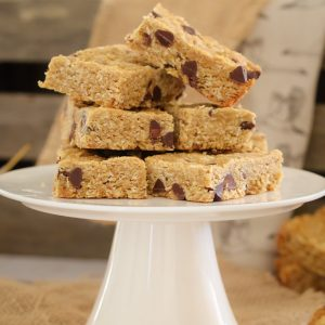 Chocolate Chip ANZAC Slice... a 10 minute super simple recipe that the whole family will love. A classic favourite with a hit of chocolate!