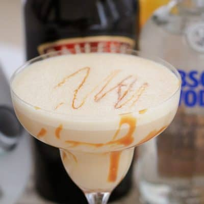 Boozy Salted Caramel Cocktail