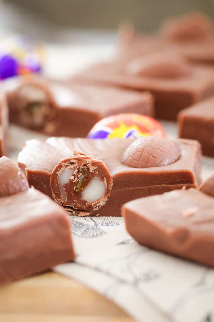 Oozing Cadbury creme eggs in a chocolate fudge.