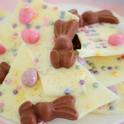 Easy White Chocolate & Malteser Bunny Easter Bark