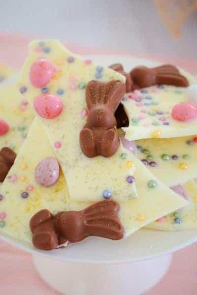 Easy White Chocolate & Malteser Bunny Easter Bark