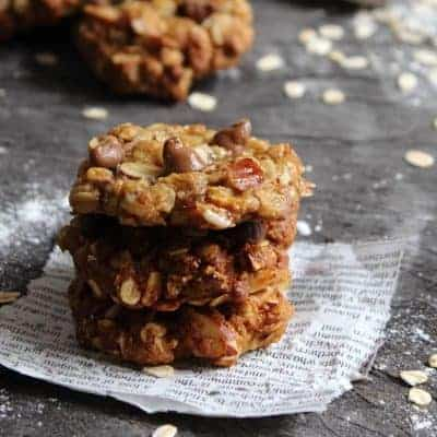 Almond & Choc Chip ANZAC Biscuits