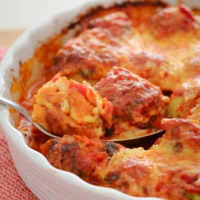 Oven Baked Chicken Parma Balls