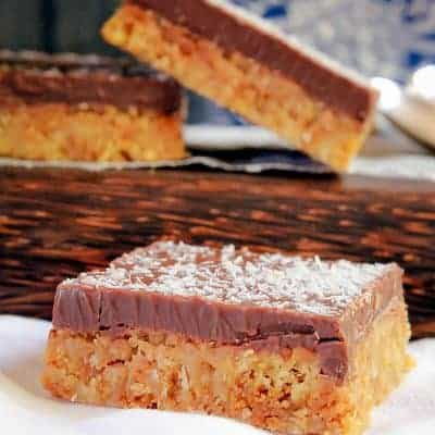 Coconut Chocolate Slice | No-Bake