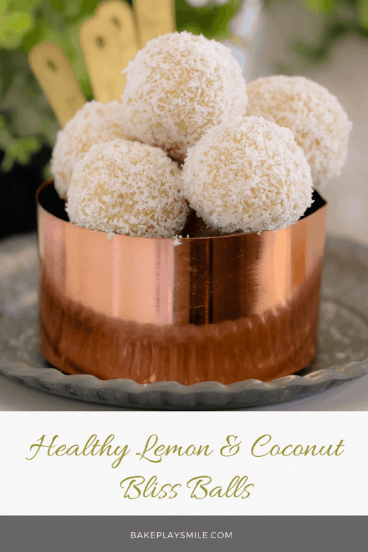 These healthy Lemon & Coconut Bliss Balls take just 10 minutes to prepare, use only 4 ingredients, are freezer-friendly and taste AMAZING! It doesn't get any better than that!!