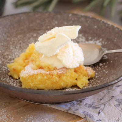 Super Easy Lemon Delicious Pudding   Winter Dessert