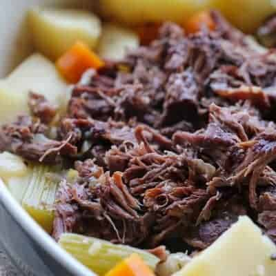 Slow Cooker Roast Beef | One Pot Dinner