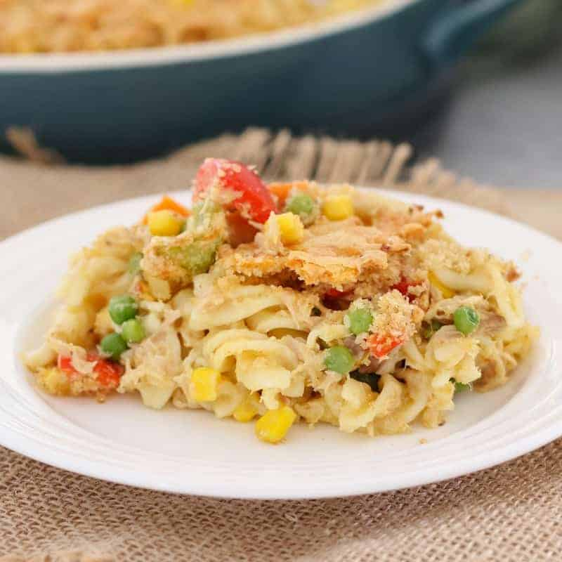 Tuna Pasta Casserole Easy Family Dinner Bake Play Smile