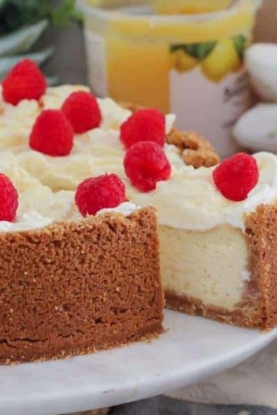 Classic Baked Lemon Cheesecake
