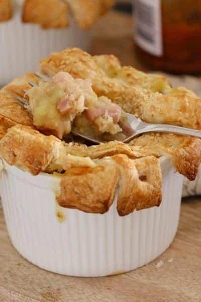 Creamy Chicken, Leek & Bacon Pies