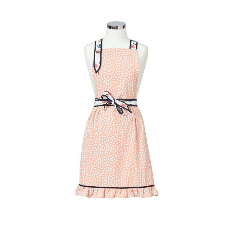 Our gorgeous Anna Gare Elsie Dots Apron is the ultimate in femininity - a stunning pale pink apron with dots, floral & subtle frill details. RRP $39.99