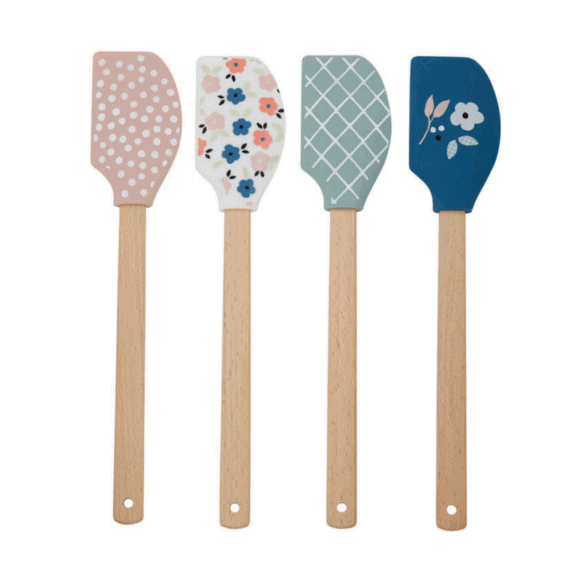 Our gorgeous Anna Gare Elsie Kitchen Spatulas come in 4 stunningly beautiful designs... pink white pink dots, white and pink floral, mint and white diamonds and blue floral. These are the perfect addition to your kitchen. RRP: $9.99