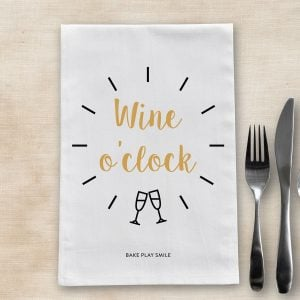 Wine O'Clock Tea Towel