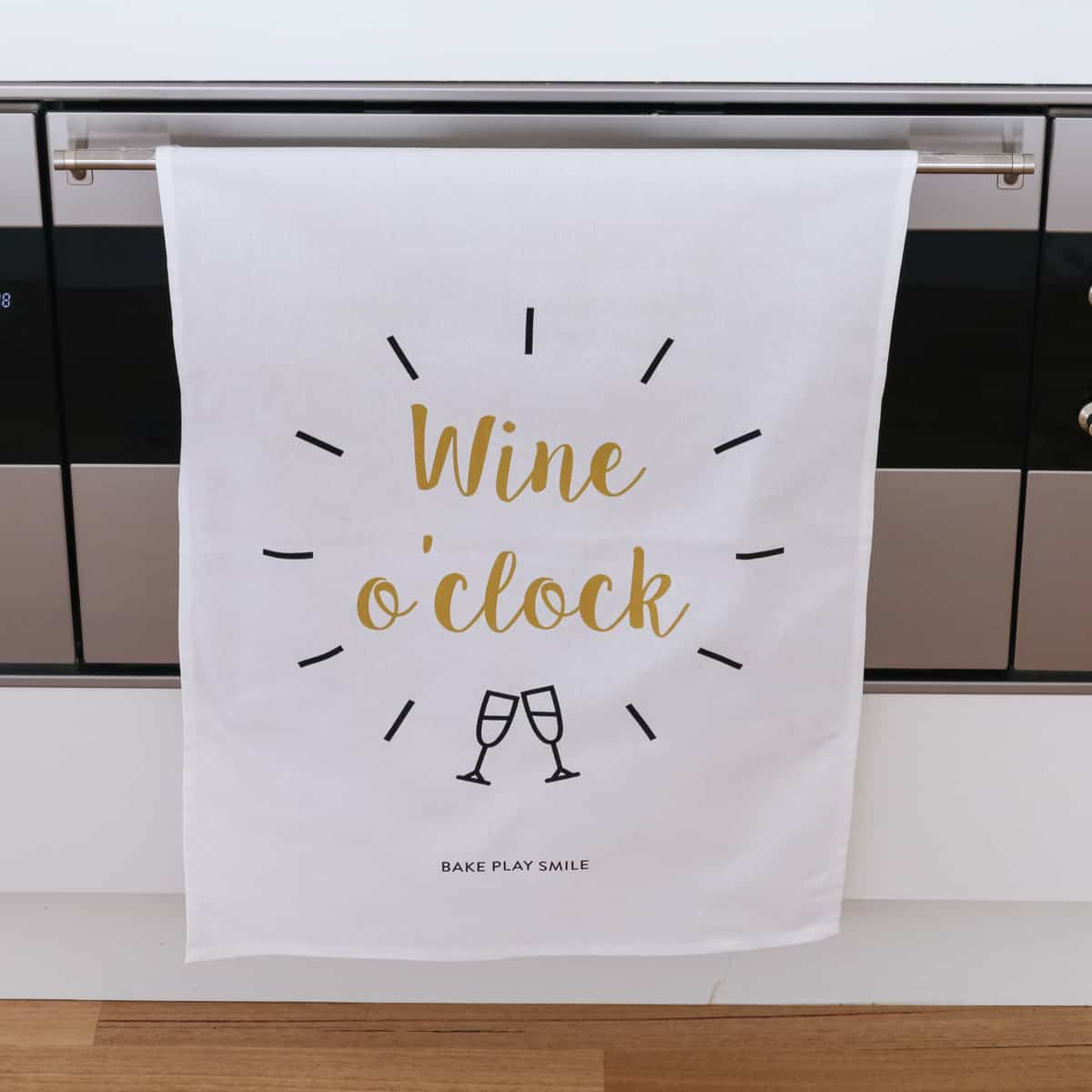 Wine O Clock Tea Towel