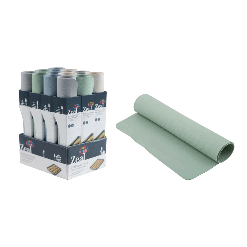 The Zeal Classic Silicone Baking Mat is an absolute kitchen essential! Available in 4 colours: pale blue, cream, grey or green. RRP $24.99
