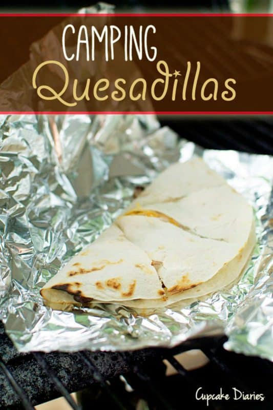 A quesadilla wrapped in foil.