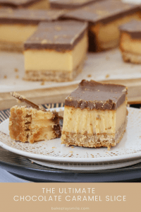 The ultimate Chocolate Caramel Slice with three totally delicious layers... a crunchy base, a smooth caramel filling and a yummy chocolate topping. Tried, tested and loved by everyone (and now with both conventional and Thermomix methods!).