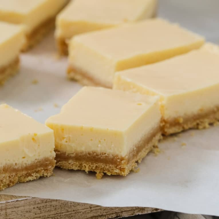 Creamy Lemon Slice 5 Ingredients Bake Play Smile
