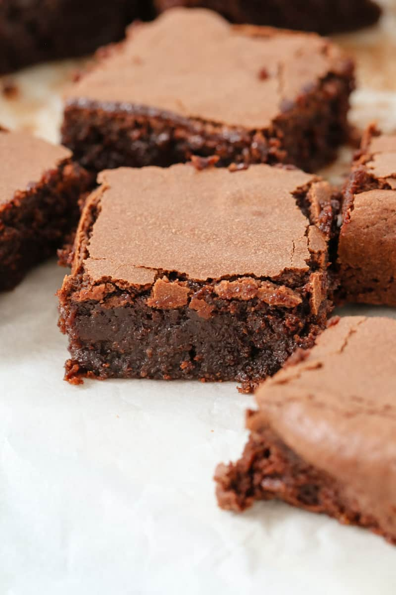 Moist and dense gluten free brownies