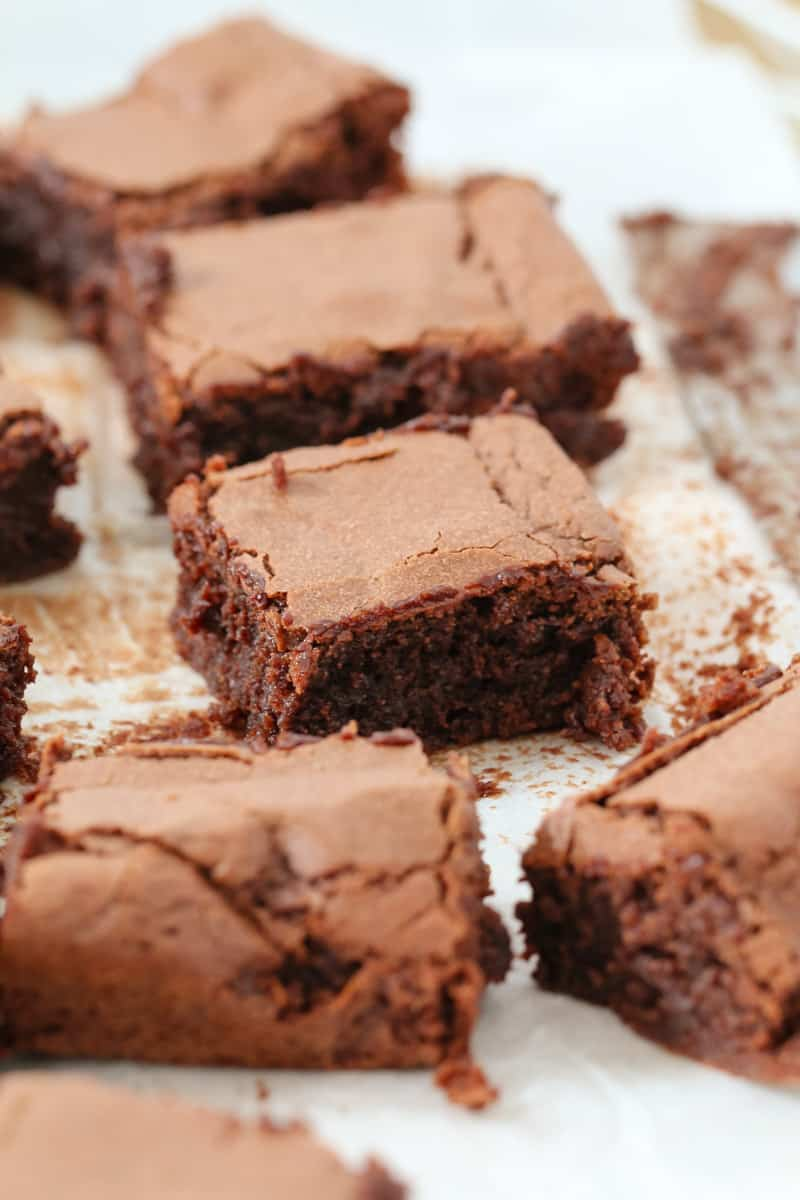 Chocolate brownies made with one bowl