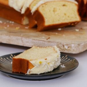 Lemon Coconut Loaf with Cream Cheese Frosting