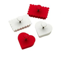 4 Piece Message Cookie Cutter Set