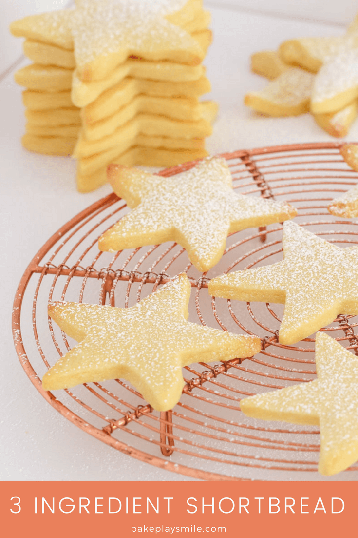 Our 3 ingredient shortbread recipe is the easiest shortbread you'll ever make... all you need is butter, plain flour and icing sugar!