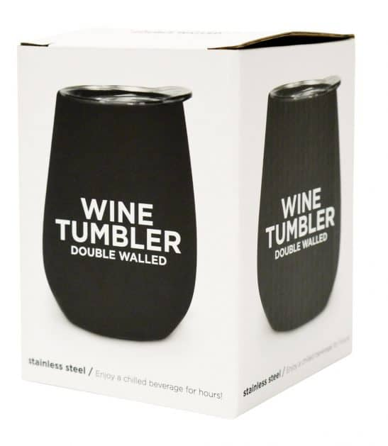 Our NEW double walled stainless steel wine tumblers are the best new addition to any picnic, party or beach day! Available in pink, black and blue. RRP: $23.95