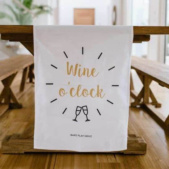 Tea towel for people who love wine.