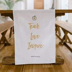 Teacher tea towel gift