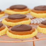 Our Twix Cookies are completely addictive! Made with a super easy shortbread base, caramel filling and dark chocolate topping... the perfect sweet treat!
