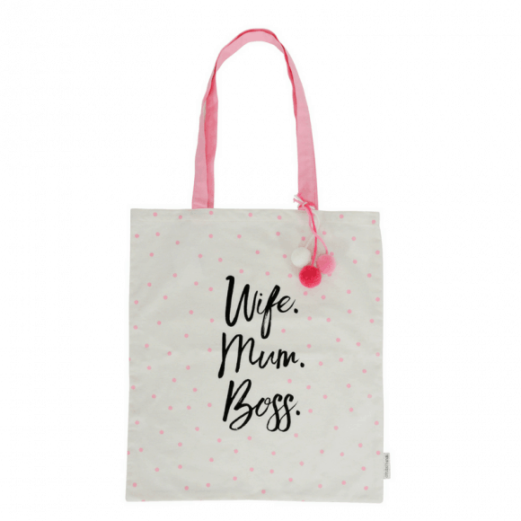 Our 'Wife. Mum. Boss' canvas tote bags are made from 100% natural cotton. The perfect eco-friendly carry-all for travel or shopping! RRP $12.95