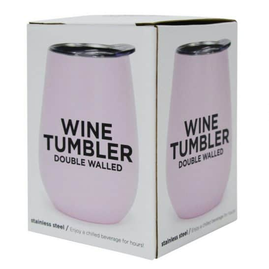 Our NEW double walled stainless steel wine tumblers are the best new addition to any picnic, party or beach day! Available in pink and blue. RRP: $23.95
