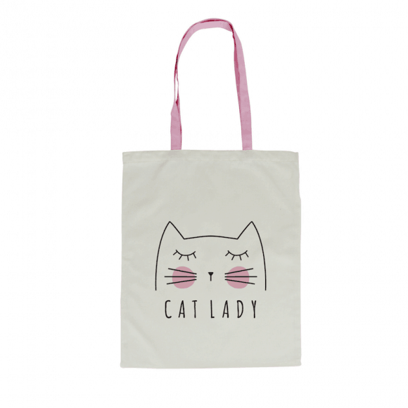 'Cat Lady' Canvas Tote Bag