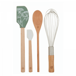 Our stylish 4pce Stephanie Alexander kitchen tool set is made from European beechwood, heat resistant silicone and stainless steel. RRP: $19.95