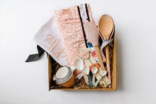 Our Deluxe Baking Hamper is the ultimate gift for the girl who loves to cook! Filled with gorgeous baking essentials, this beautiful hamper is stylish & practical! Available in pink and green.