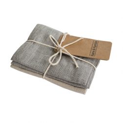 The Chambray Raven & Taupe Woven Tea Towel set from Raine & Humble is simple yet stylish. Each tea towel measures 45cm X 70cm and adds a little bit of luxury to your kitchen! RRP: $19.95